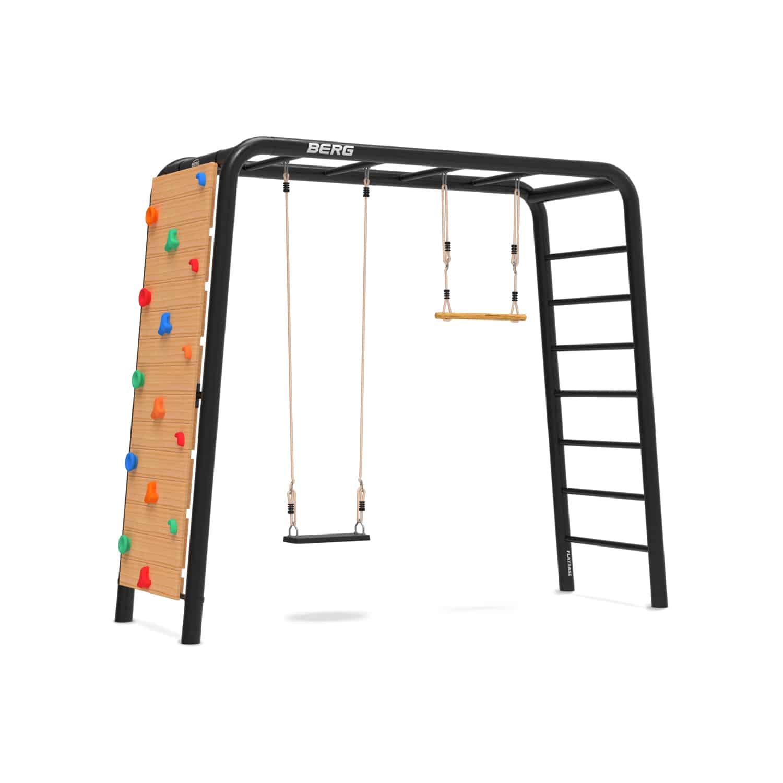 BERG Playbase medium mit Kletterwand und Schaukel